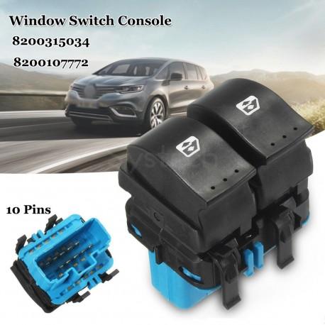 Interrupteur lève vitres remplacve 8200107772 (connecteur bleu)