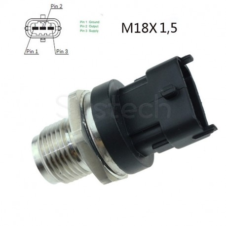 Capteur pression carburant remplace 0281006064